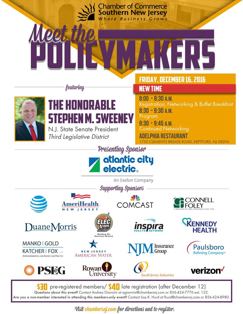 CCSNJ Meet the Pollicymakers