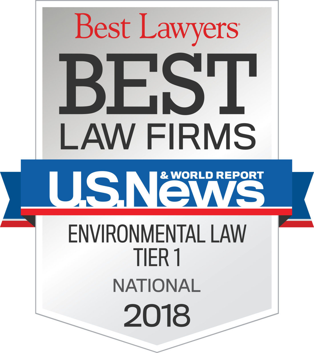 2018 Best Law Firm - Environmental Law Tier I National