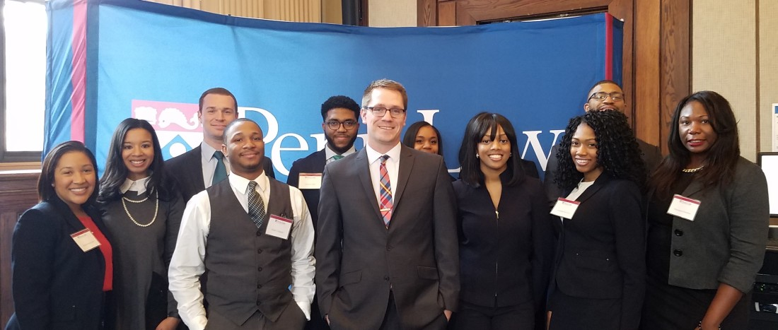 Daly with Penn Law Students