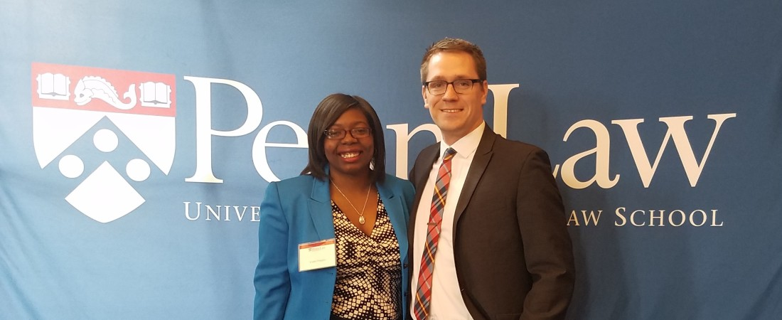 Daly and Vaughn at Penn BLSA Conference