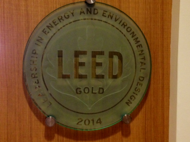 LEED Gold Certification for Commercial Interiors