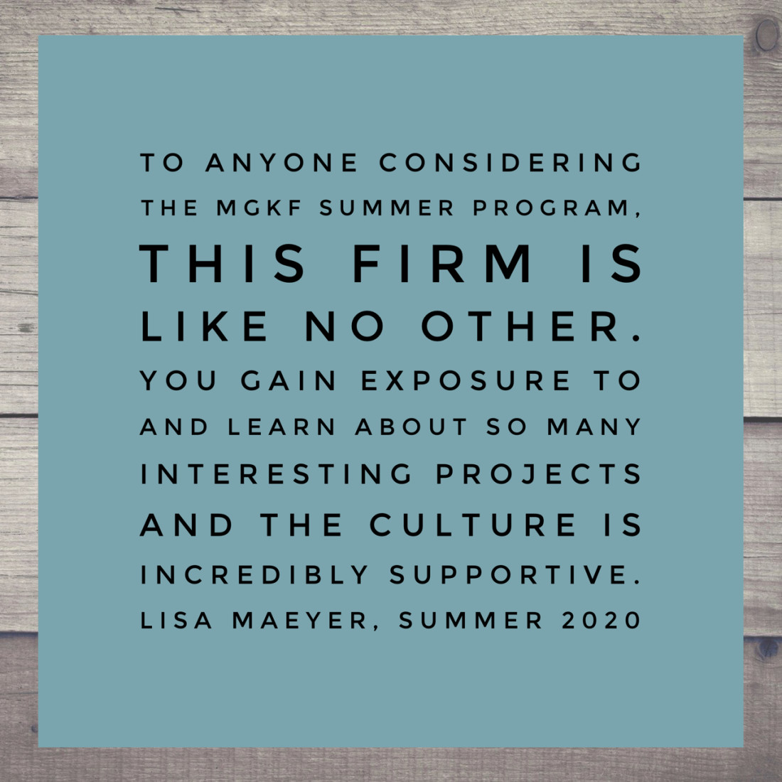 Lisa Maeyer quote